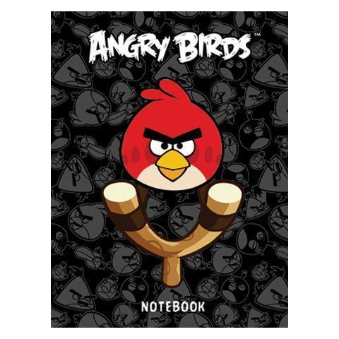 Бизнес-блокнот 80л А6ф клетка тв.переплет-ANGRY BIRDS-80ББ6B1_10354Бизнес-блокнот в твердом переплёте. Листаж - 80 листов А6 формата. Клетка.