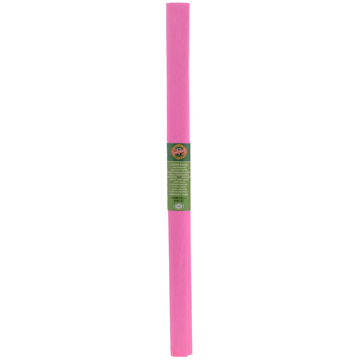 """Бумага гофрированная """"Koh-I-Noor"""", цвет: светло-розовый, 50 см x 2 м"""