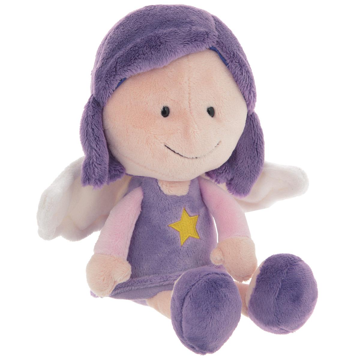 Nici Мягкая игрушка Ангел-хранитель сидячий цвет фиолетовый 25 см37334Суеверие, предрассудки – скажут прагматики и скептики. А мы говорим, что это работает. Мы, маленькие симпатичные ангелы-хранители, обладаем способностью защищать своих друзей, главное, быть всегда рядом. Вы только поверьте в нас!