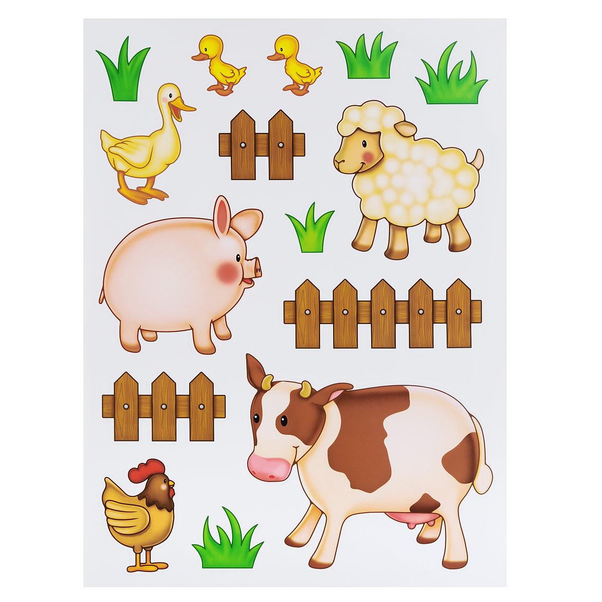 Наклейки для интерьера Стрекоза Домашние животные, 48 х 65 см, 2 шт. HD-043