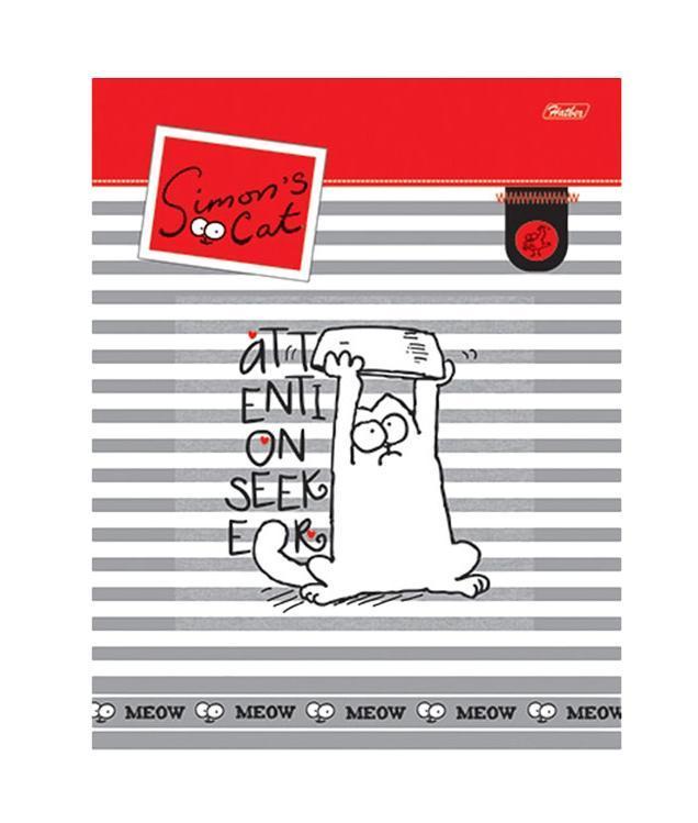 Тетрадь 96л А5ф Пластиковая обложка на гребне серия -Кот Саймона-(SC)96Т5B1грТетрадь 96 листов А5 формата с пластиковой обложкой на гребне