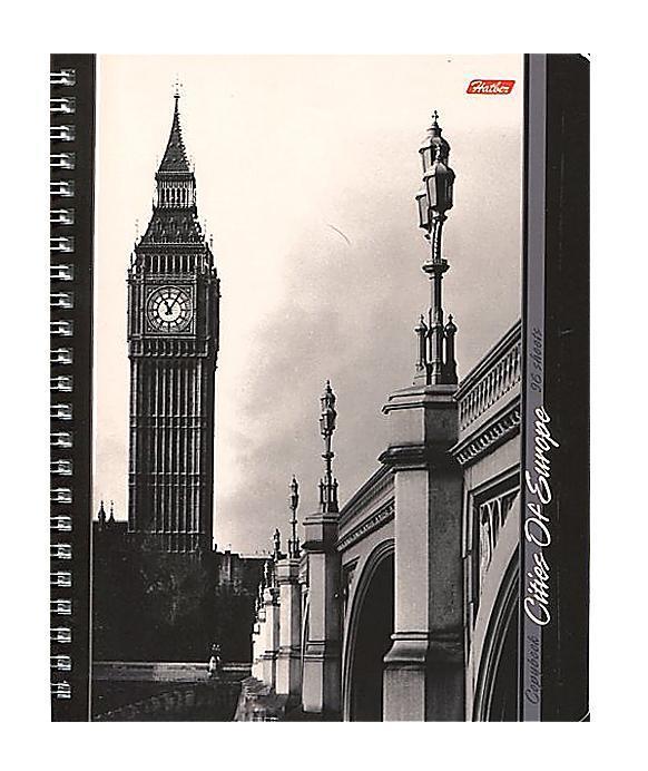 Тетрадь двойная с 4-мя обложками 96л А5ф на гребне-Города Европы-96Тд5B1гр_09187Тетрадь двойная с обложками-перевертышами. Четыре дизайна обложки. 96 листов. Внутренний блок 60 гр/кв.м. Тип разметки: В клетку; тип бумаги: Шелковисто-матовая; формат: А5; обложка: картон; пол: унисекс; возраст: старшие классы; способ крепления: Гребень; упаковка: Коробка картонная