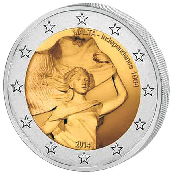 Монета номиналом 2 евро 50 лет Независимости Мальты. Мальта, 2014 год341937Материал: Биметалл. Диаметр: 2,6 см. Тираж, шт.: 400 000. Качество: АЦ.