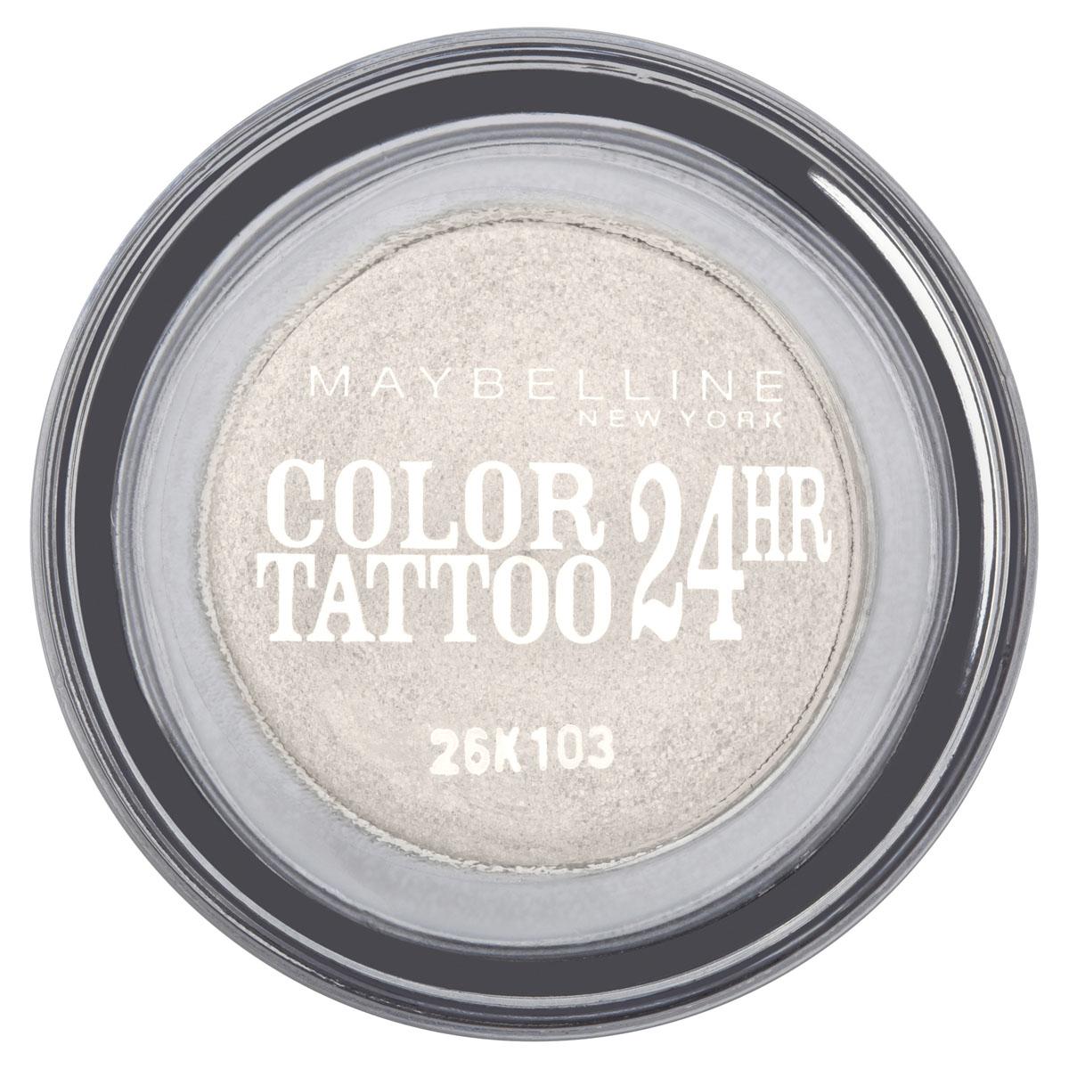 Maybelline New York Тени для век Color Tattoo 24 часа, оттенок 45, Бесконечно белый, 4 млB1949800Технология тату-пигментов создает яркий, супернасыщенный цвет. Крем-гелевая текстура обеспечивает ультралегкое нанесение и стойкость на 24 часа. 12 оттенков