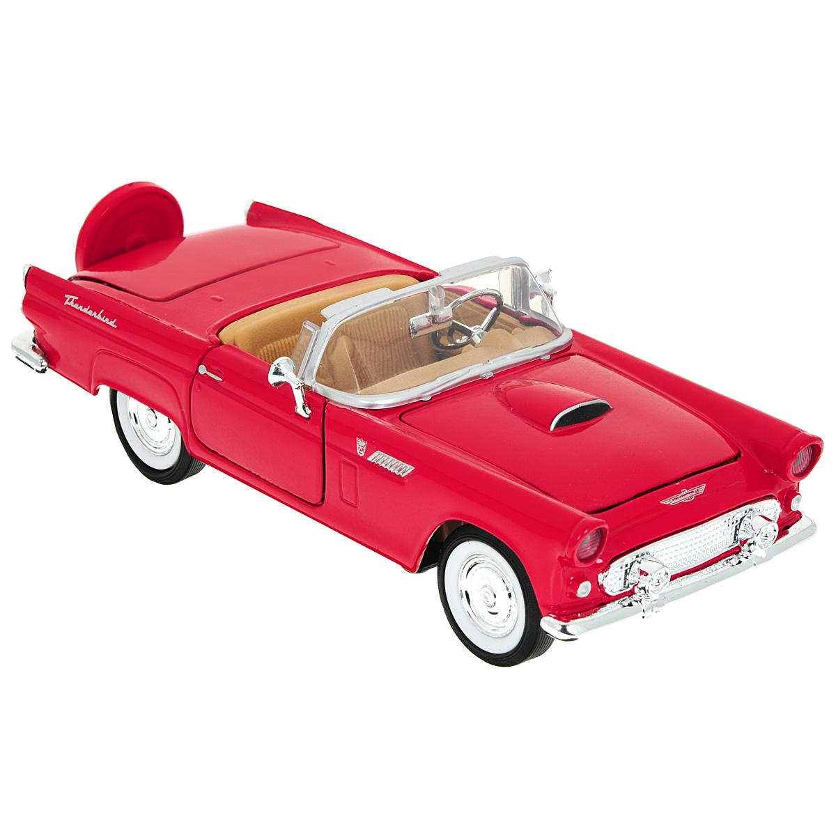 MotorMax Модель автомобиля Ford Thunderbird 1956 цвет красный motormax модель автомобиля corvette 1967 цвет черный