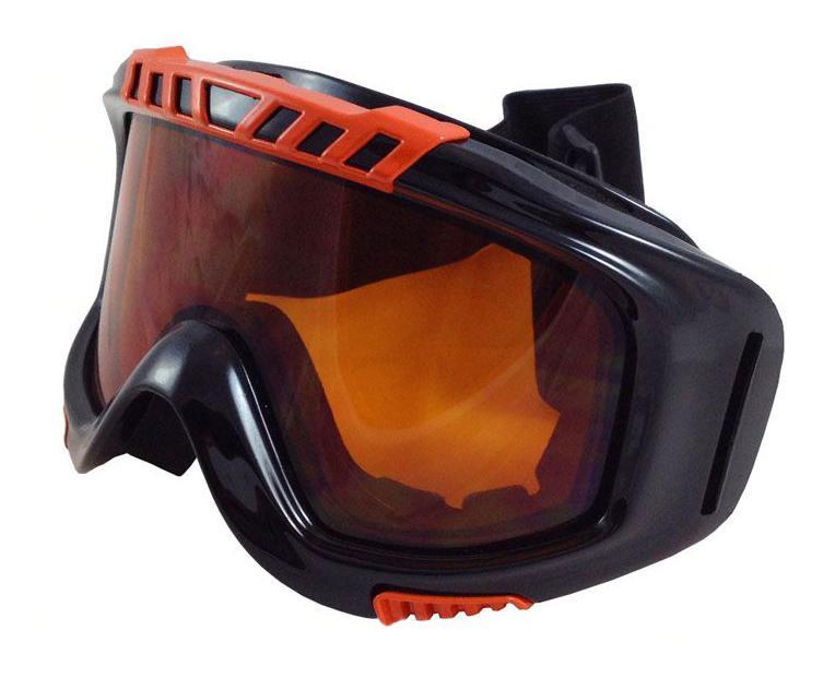 Очки горнолыжные Sky Monkey/Vcan, цвет: черный. VSE08_SR22 ORVSE08_SR22 ORСпортивные горнолыжные очки Vcan надежно защитят Ваши глаза во время катания на лыжах или сноуборде. Двойные линзы выполнены из противоударного поликарбоната для большей защиты глаз. Отличительная особенность поликарбоната - самая высокая устойчивость к ударным нагрузкам. Очки с поликарбонатными линзами наиболее травмобезопасны. Оранжевые тонированные линзы обеспечивают 100% защиту от ультрафиолетовых лучей (UV400). Противотуманное покрытие на внутренней стороне линз предотвращает запотевание оптики. Характеристики: Материал: поликарбонат, пластик. Размеры упаковки: 19,5 см х 9,5 см х 10,5 см.