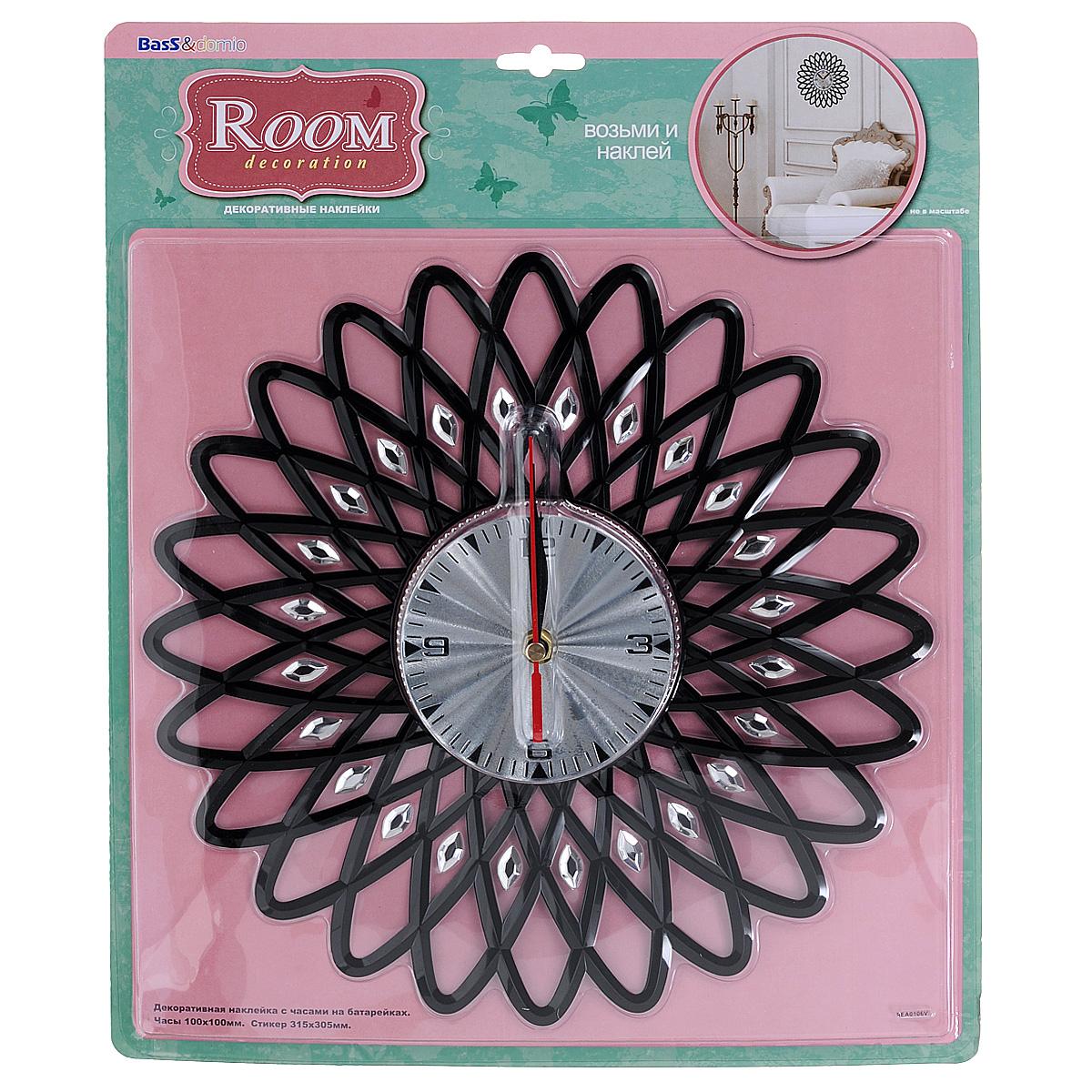 """Наклейка-часы для интерьера """"Room Decoration"""", 31,5 см х 30,5 см"""