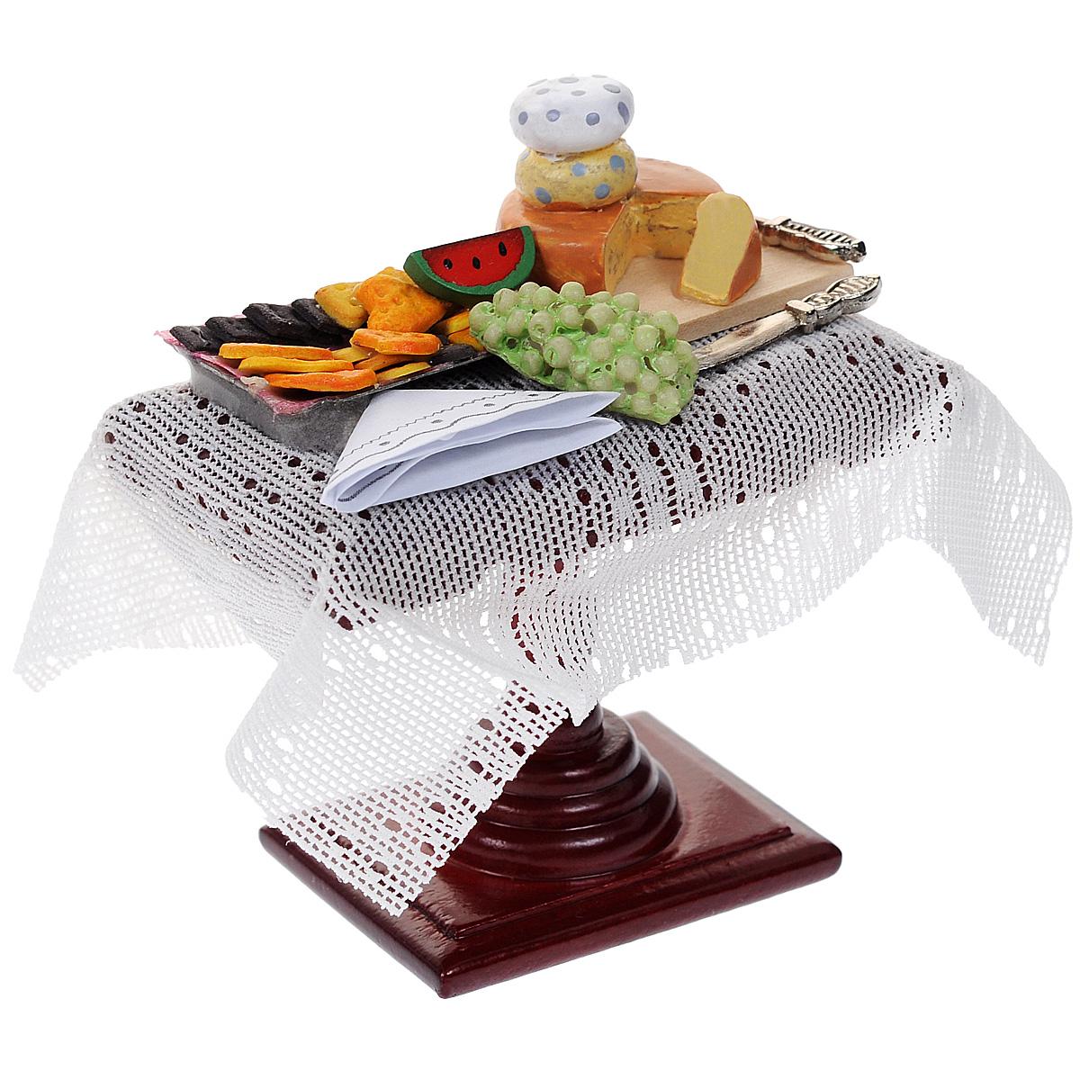 Миниатюра кукольная Art of Mini Столик с едойAM0102044