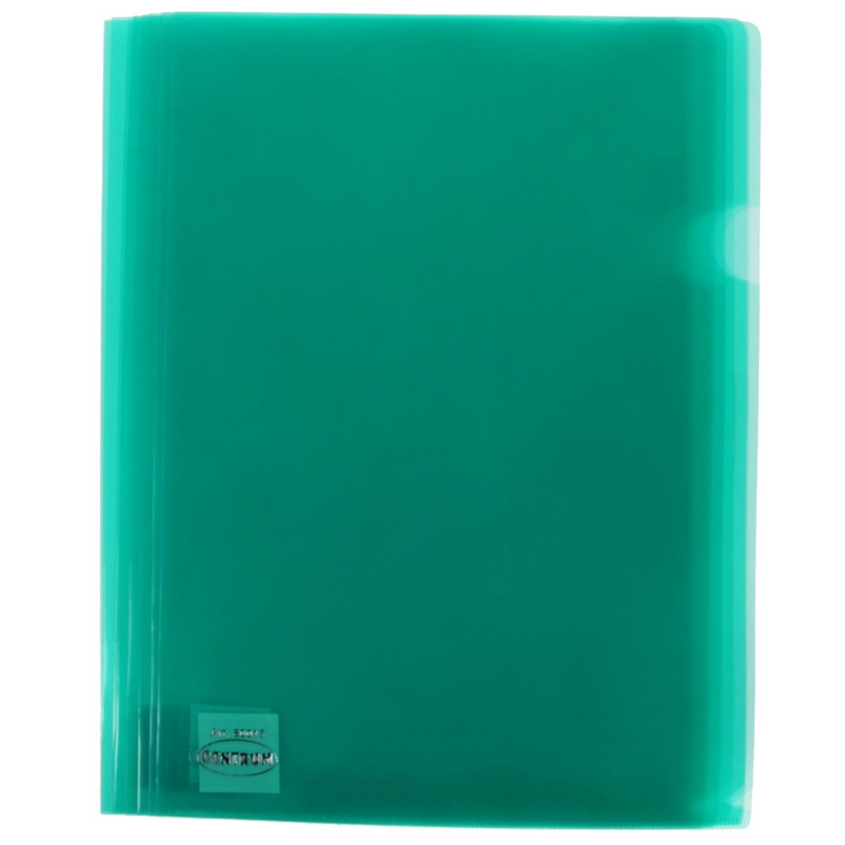 Папка-уголок Сentrum, 3 отделения, цвет: зеленый. Формат А4, 10 шт80022_зеленыйПапка-уголок Centrum - это удобный и практичный офисный инструмент, предназначенный для хранения и транспортировки рабочих бумаг и документов формата А4. Папка изготовлена из прозрачного глянцевого пластика, имеет три отделения с индексами-табуляторами. В комплект входят 10 папок формата А4. Папка-уголок - это незаменимый атрибут для студента, школьника, офисного работника. Такая папка надежно сохранит ваши документы и сбережет их от повреждений, пыли и влаги.