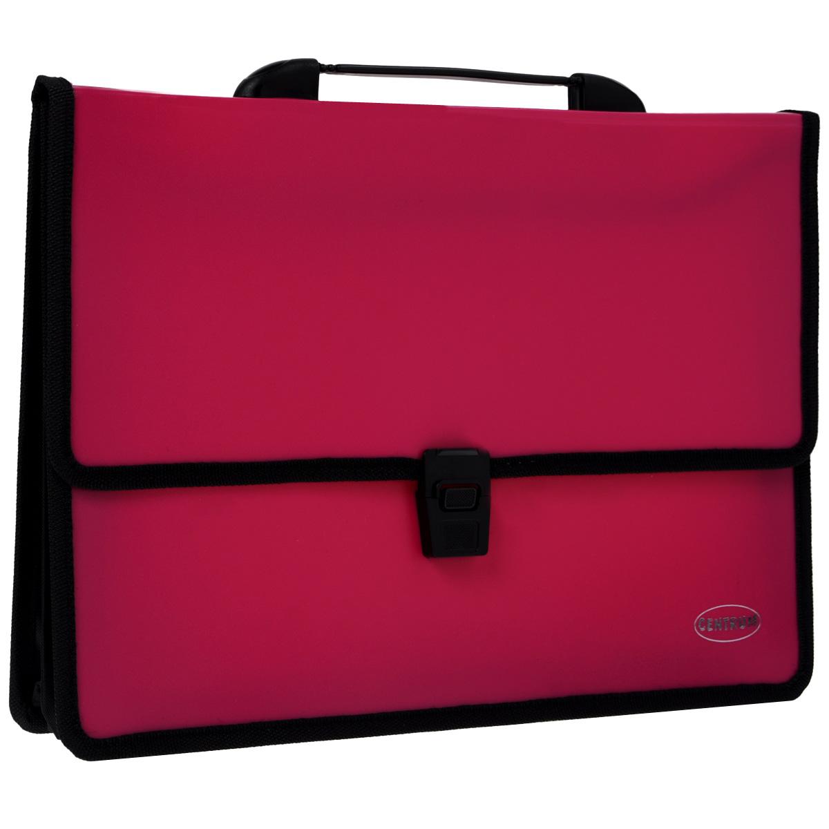 """Папка-портфель """"Centrum"""", 2 отделения, с ручкой, цвет: вишневый 80610В"""