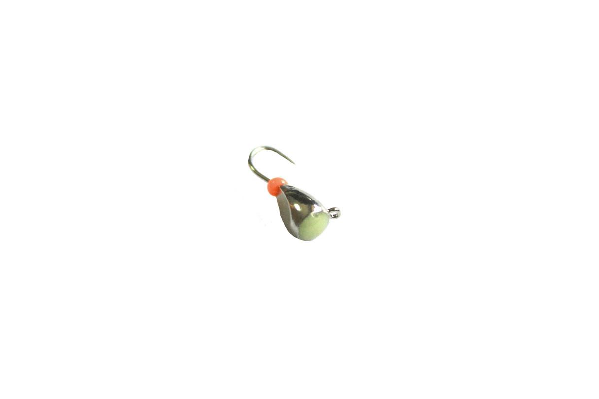 Мормышка вольфрамовая Dixon-Rus капля с ушком и фосфором d4, черный никель (10шт)46065Мормышка вольфрамовая для подледной ловли. Вес - 0,85 г Цвет - черный никель