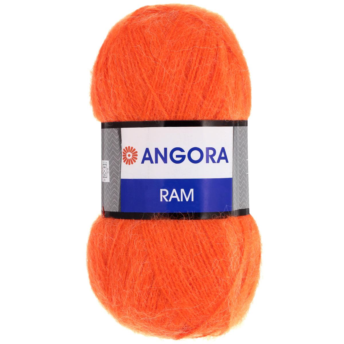 Пряжа для вязания YarnArt Angora Ram, цвет: ярко-оранжевый (206), 500 м, 100 г, 5 шт372037_206Пряжа для вязания YarnArt Angora Ram изготовлена из натурального мохера с добавлением акрила. Пряжа из такого материала обладает повышенной прочностью и эластичностью, а изделия получаются теплые и уютные. Скрутка нити плотная, равномерная, не расслаивается, не путается, хорошо скользит по спицам, вяжется очень легко. Петли выглядят аккуратно, а натуральный мохер обеспечивает теплоту, легкость и превосходный внешний вид. Нить можно комбинировать с полушерстяными пряжами для смягчения рисунка, придания благородной пушистости фактуре нити, а также для улучшения тепловых характеристик. Благодаря содержанию синтетических волокон, изделия из YarnArt Angora Ram устойчивы к скатыванию, а благодаря своей мягкости такая пряжа подходит для детских вещей. Ажурные вещи сохраняют тепло не хуже плотного вязания, оставаясь легкими и объемными. Рекомендуемый размер спиц: №4. Примерный расход пряжи на джемпер: S - 400 г, M - 500 г, L - 600 г. Состав: 40%...