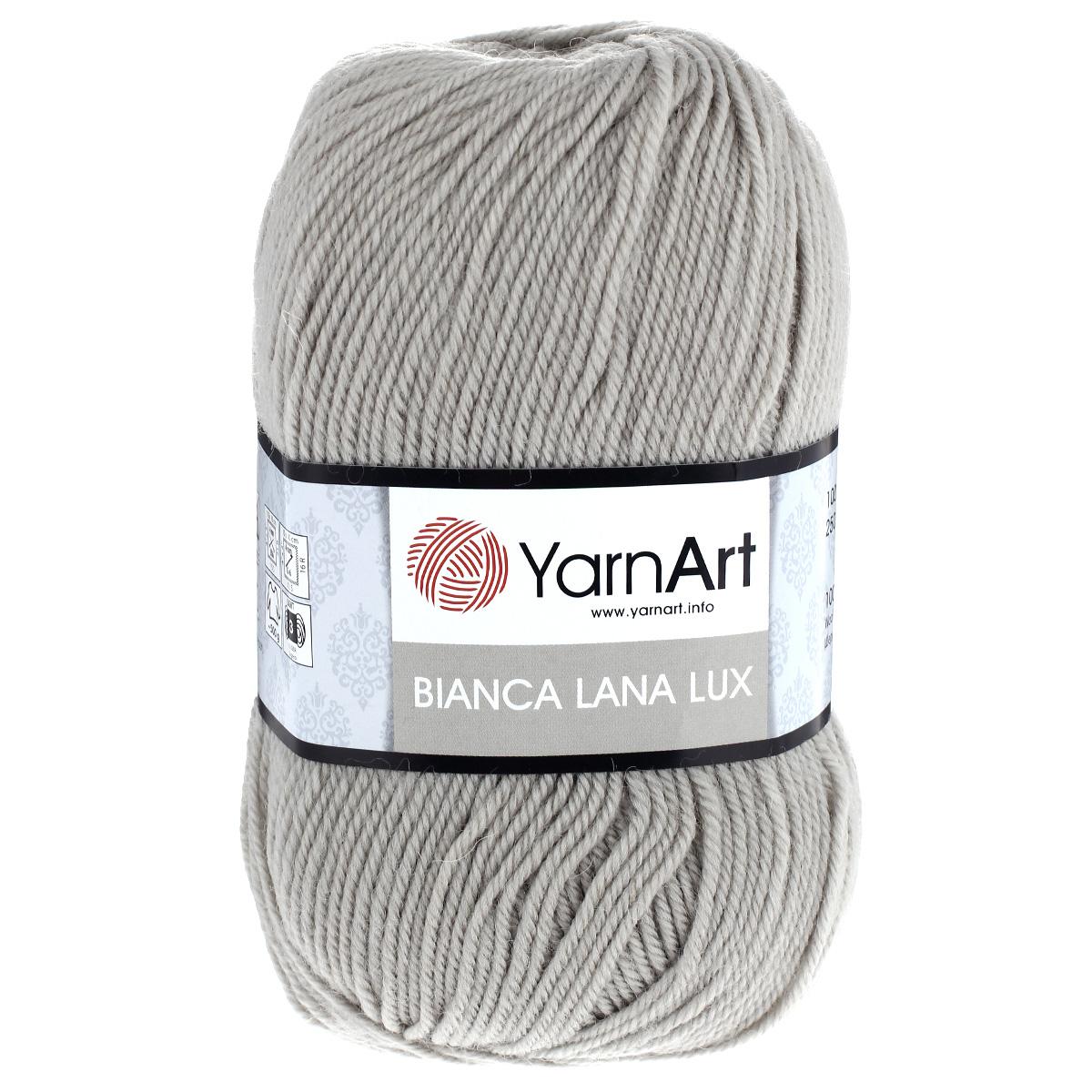 Пряжа для вязания YarnArt Bianca LanaLux, цвет: серо-бежевый (760), 250 м, 100 г, 5 шт372093_760Пряжа YarnArt Bianca LanaLux - это классическая чистошерстяная пряжа для вязания. Нить очень мягкая, приятная на ощупь, слегка шелковистая, упругая и не колется. Изделия из нее получаются теплыми и нежными, не теряют форму. Пряжа подходит для вязания платьев, кардиганов, жилетов и джемперов. Рекомендованные спицы и крючок для вязания 4 мм. Состав: 100% шерсть.
