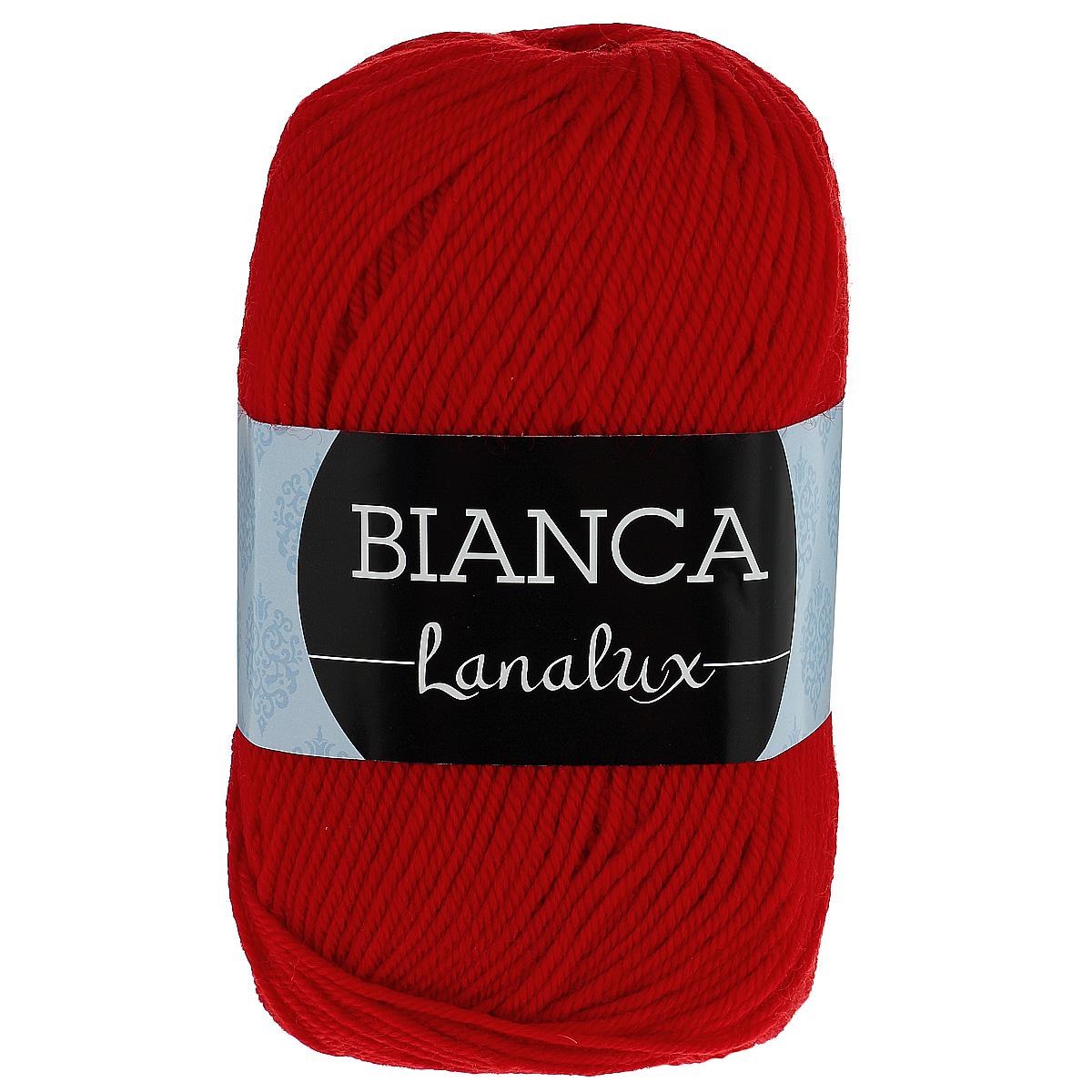 Пряжа для вязания YarnArt Bianca LanaLux, цвет: красный (852), 250 м, 100 г, 5 шт372093_852Пряжа YarnArt Bianca LanaLux - это классическая чистошерстяная пряжа для вязания. Нить очень мягкая, приятная на ощупь, слегка шелковистая, упругая и не колется. Изделия из нее получаются теплыми и нежными, не теряют форму. Пряжа подходит для вязания платьев, кардиганов, жилетов и джемперов. Рекомендованные спицы и крючок для вязания 4 мм. Состав: 100% шерсть.