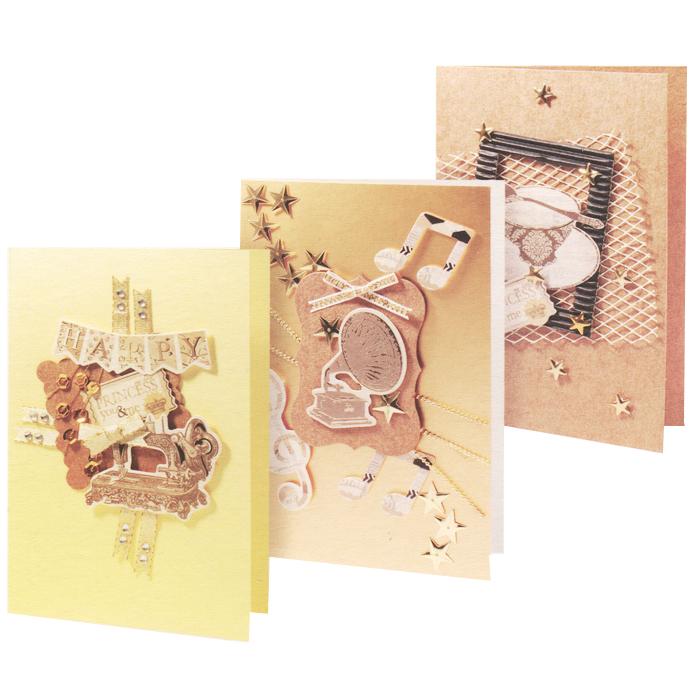 Набор для создания открыток Белоснежка, 3 шт. 106-SB106-SB Набор для создания 3-х открытокНабор Белоснежка предназначен для создания трех оригинальных открыток. Открытка ручной работы - это всегда ценный подарок. В каждой работе таится частичка души ее автора и неповторимый стиль, так как нет и двух похожих открыток ручной работы. В набор входит: - 3 заготовки для открыток, - 3 конверта, - клеевые подушечки, - вырубки из бумаги, - ленты, паетки, - стразы, полубусины. Размер готовой открытки: 11,5 см х 17 см.
