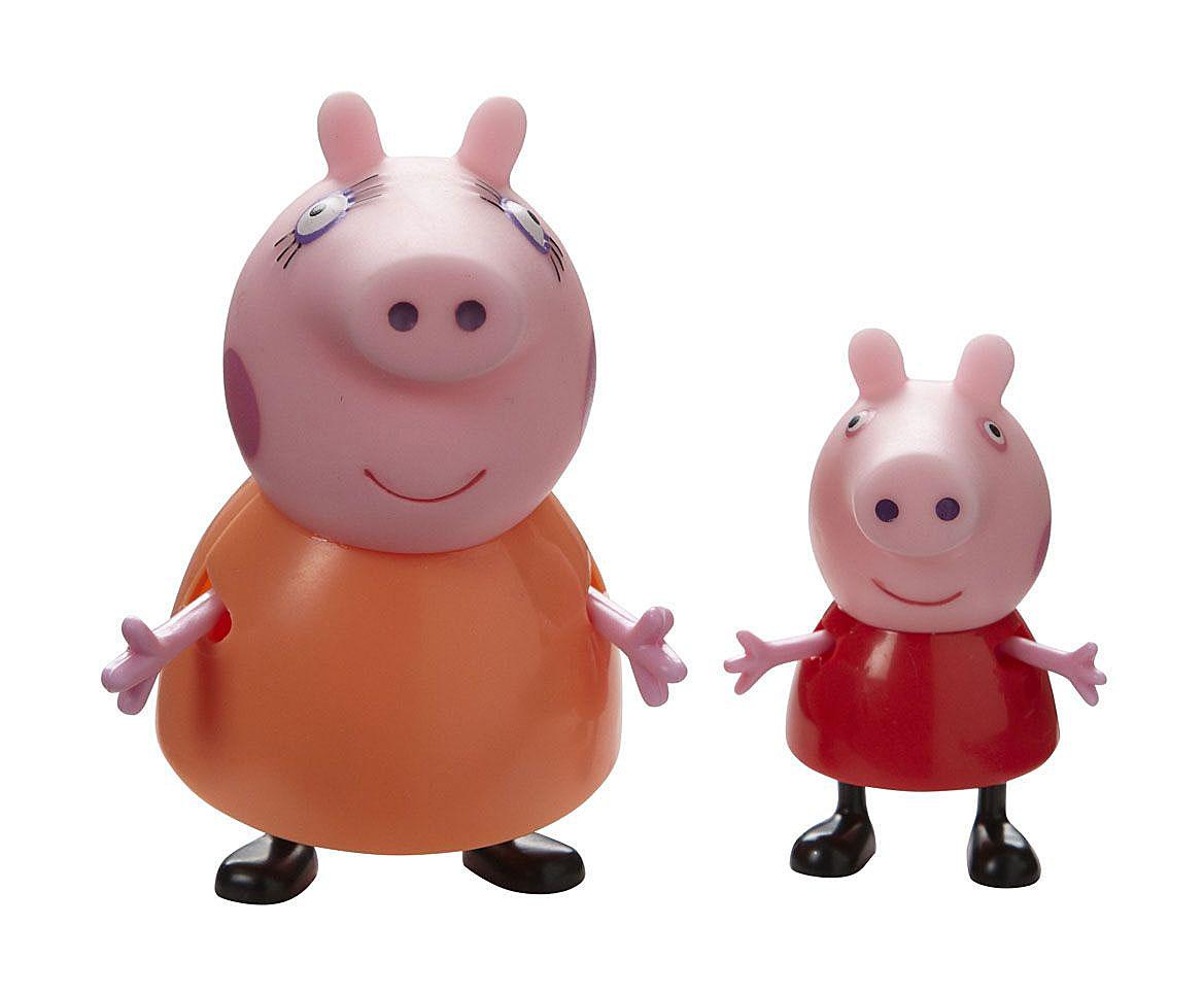 Игровой набор Peppa Pig Семья Пеппы: мама, дочка20837нИгровой набор Peppa Pig Семья Пеппы: мама, дочка непременно понравится вашему ребенку и займет его внимание надолго. Набор включает две фигурки: свинку Пеппу и ее маму. Ручки и ножки фигурок подвижны, что придает игре реалистичность. Ваш ребенок с удовольствием будет играть с этим набором, придумывая различные истории и составляя собственные сюжеты. Пеппа - симпатичная маленькая свинка, которая живет вместе со своими Мамой Свинкой, Папой Свином и маленьким братиком Джорджем. Пеппа обожает играть, наряжаться, бывать в новых местах и заводить новые знакомства, но самое любимое занятие Пеппы - прыгать в грязных лужах. Герои мультфильма наделены частично качествами людей, частично качествами животных. Они ходят в одежде, живут в домах, ездят на машинах, ходят на работу и в театр. Дети отмечают дни рождения, играют в парках, катаются на катках и занимаются всем, что присуще людям. В то же время свинки постоянно хрюкают, овечки блеют, а кошки мяукают.