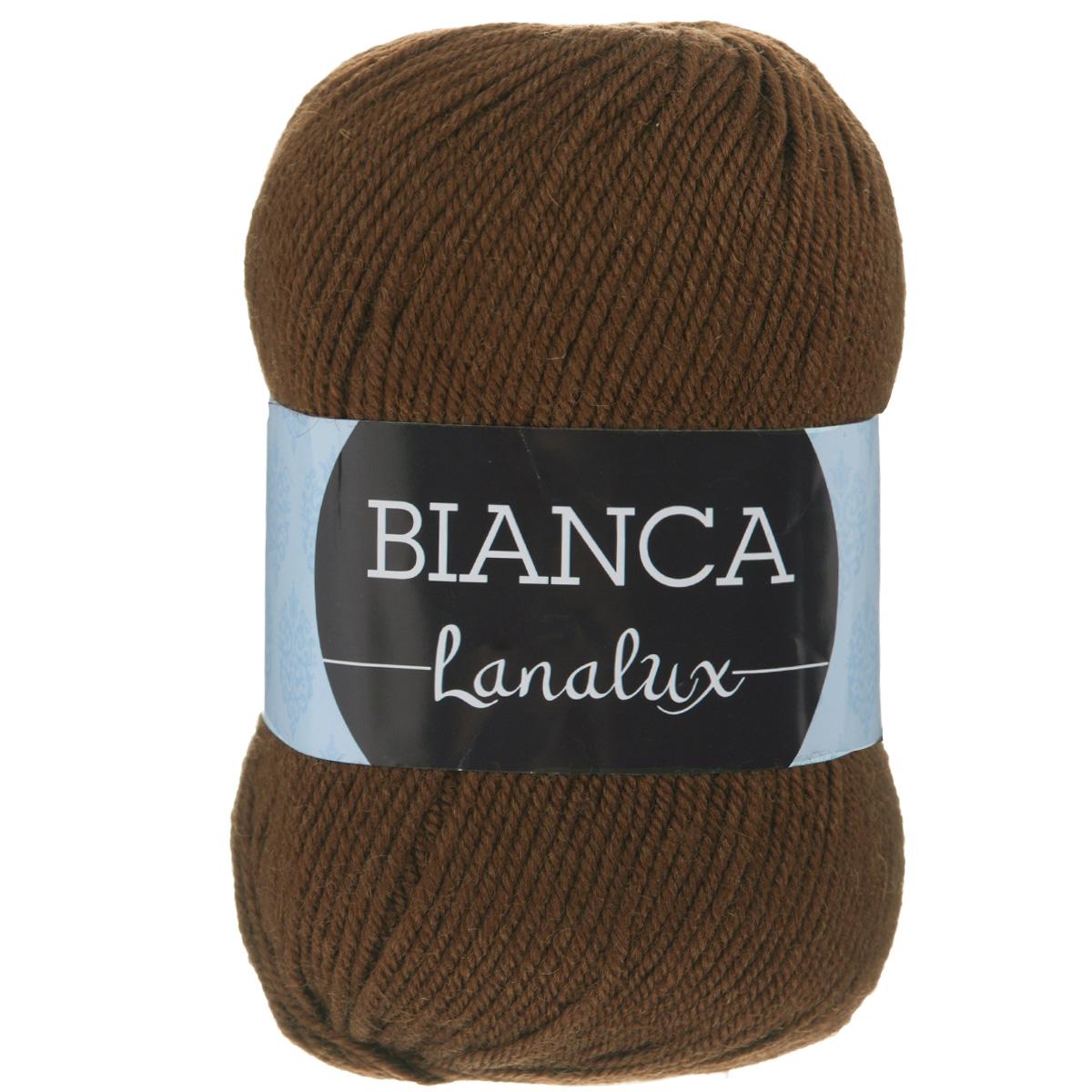 Пряжа для вязания YarnArt Bianca LanaLux, цвет: шоколадный (864), 250 м, 100 г, 5 шт372093_864Пряжа YarnArt Bianca LanaLux - это классическая чистошерстяная пряжа для вязания. Нить очень мягкая, приятная на ощупь, слегка шелковистая, упругая и не колется. Изделия из нее получаются теплыми и нежными, не теряют форму. Пряжа подходит для вязания платьев, кардиганов, жилетов и джемперов. Рекомендованные спицы и крючок для вязания 4 мм. Состав: 100% шерсть.