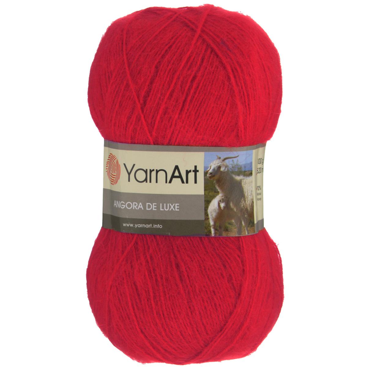 Пряжа для вязания YarnArt Angora De Luxe, цвет: алый (156), 520 м, 100 г, 5 шт372063_156Пряжа для вязания YarnArt Angora De Luxe, изготовленная из 70% мохера и 30% акрила, очень мягкая и приятная на ощупь. Пряжа не линяет, не расслаивается, не путается в процессе вязания. Плотная, равномерно скрученная нить эластичная, гибкая, не деформируется после распускания и может быть использована вновь. Петли ложатся аккуратно, изделие не вытягивается и не косит. Пряжа YarnArt Angora De Luxe - теплая, но очень легкая, идеально подходит для изготовления зимней одежды: жилеты, свитера, кофты, кардиганы. Головные уборы, шарфы, перчатки носятся хорошо, не колются, при бережном уходе не теряют свою форму и цвет долгое время. Акрил смягчает мохеровую нить, а также обеспечивает практичность и сохранение формы изделия. Рекомендована ручная стирка до 30°C . Подходит для вязания на крючках 3,5 мм и спицах 3 мм. Толщина нити: 1 мм. Состав: 70% мохер, 30% акрил. В настоящее время вязание плотно вошло в нашу жизнь, причем не...