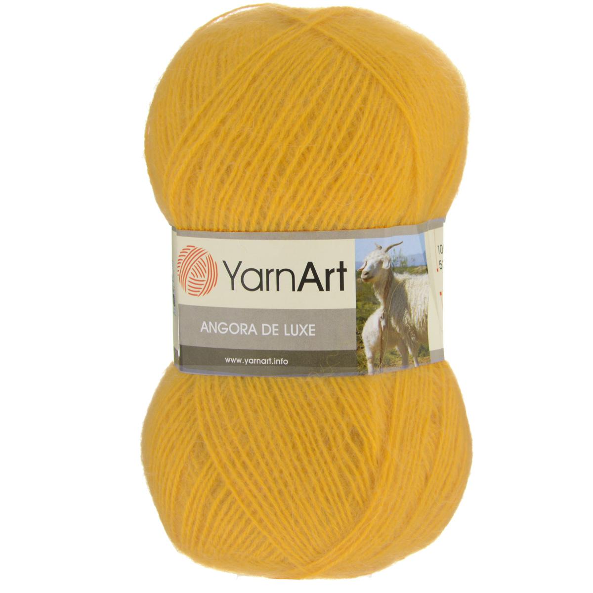 Пряжа для вязания YarnArt Angora De Luxe, цвет: желтый (586), 520 м, 100 г, 5 шт372063_586Пряжа для вязания YarnArt Angora De Luxe, изготовленная из 70% мохера и 30% акрила, очень мягкая и приятная на ощупь. Пряжа не линяет, не расслаивается, не путается в процессе вязания. Плотная, равномерно скрученная нить эластичная, гибкая, не деформируется после распускания и может быть использована вновь. Петли ложатся аккуратно, изделие не вытягивается и не косит. Пряжа YarnArt Angora De Luxe - теплая, но очень легкая, идеально подходит для изготовления зимней одежды: жилеты, свитера, кофты, кардиганы. Головные уборы, шарфы, перчатки носятся хорошо, не колются, при бережном уходе не теряют свою форму и цвет долгое время. Акрил смягчает мохеровую нить, а также обеспечивает практичность и сохранение формы изделия. Рекомендована ручная стирка до 30°C . Подходит для вязания на крючках 3,5 мм и спицах 3 мм. Толщина нити: 1 мм. Состав: 70% мохер, 30% акрил. В настоящее время вязание плотно вошло в нашу жизнь, причем не...
