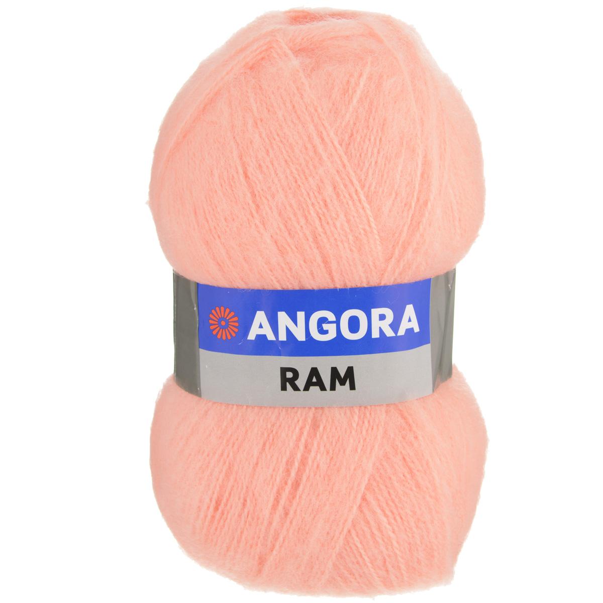 Пряжа для вязания YarnArt Angora Ram, цвет: персиковый (), 500 м, 100 г, 5 шт372037_Пряжа для вязания YarnArt Angora Ram изготовлена из натурального мохера с добавлением акрила. Пряжа из такого материала обладает повышенной прочностью и эластичностью, а изделия получаются теплые и уютные. Скрутка нити плотная, равномерная, не расслаивается, не путается, хорошо скользит по спицам, вяжется очень легко. Петли выглядят аккуратно, а натуральный мохер обеспечивает теплоту, легкость и превосходный внешний вид. Нить можно комбинировать с полушерстяными пряжами для смягчения рисунка, придания благородной пушистости фактуре нити, а также для улучшения тепловых характеристик. Благодаря содержанию синтетических волокон, изделия из YarnArt Angora Ram устойчивы к скатыванию, а благодаря своей мягкости такая пряжа подходит для детских вещей. Ажурные вещи сохраняют тепло не хуже плотного вязания, оставаясь легкими и объемными. Рекомендуемый размер спиц: №4. Примерный расход пряжи на джемпер: S - 400 г, M - 500 г, L - 600 г. Состав: 40%...
