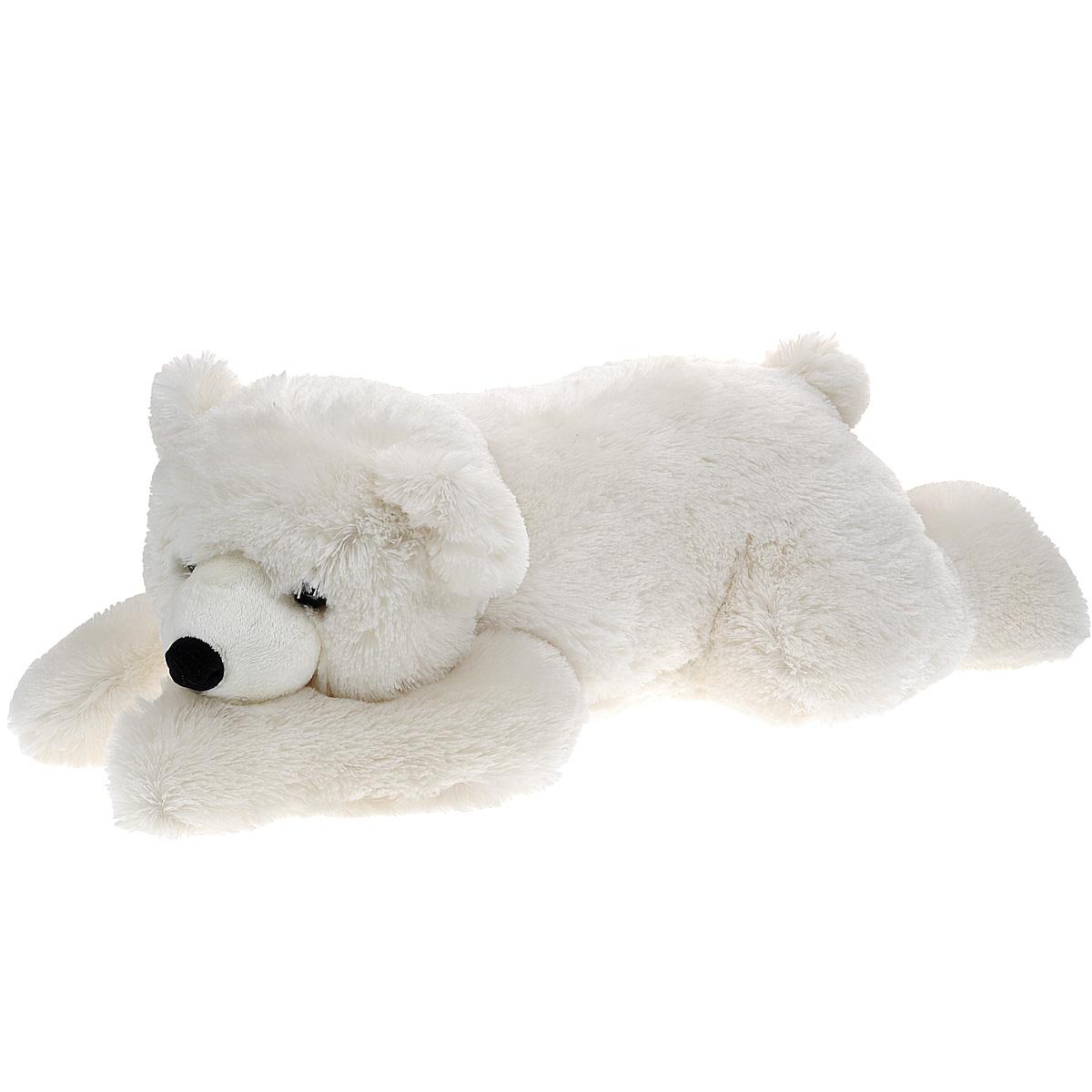 Мягкая игрушка Aurora Медведь, лежачий, цвет: белый, 65 см301-07Очаровательная мягкая игрушка Медведь, выполненная в виде медвежонка белого цвета, вызовет умиление и улыбку у каждого, кто ее увидит. Удивительно мягкая игрушка принесет радость и подарит своему обладателю мгновения нежных объятий и приятных воспоминаний. Она выполнена из экологически чистых материалов - плюша с набивкой из гипоаллергенного синтепона и пластмассовых гранул. Великолепное качество исполнения делают эту игрушку чудесным подарком к любому празднику.