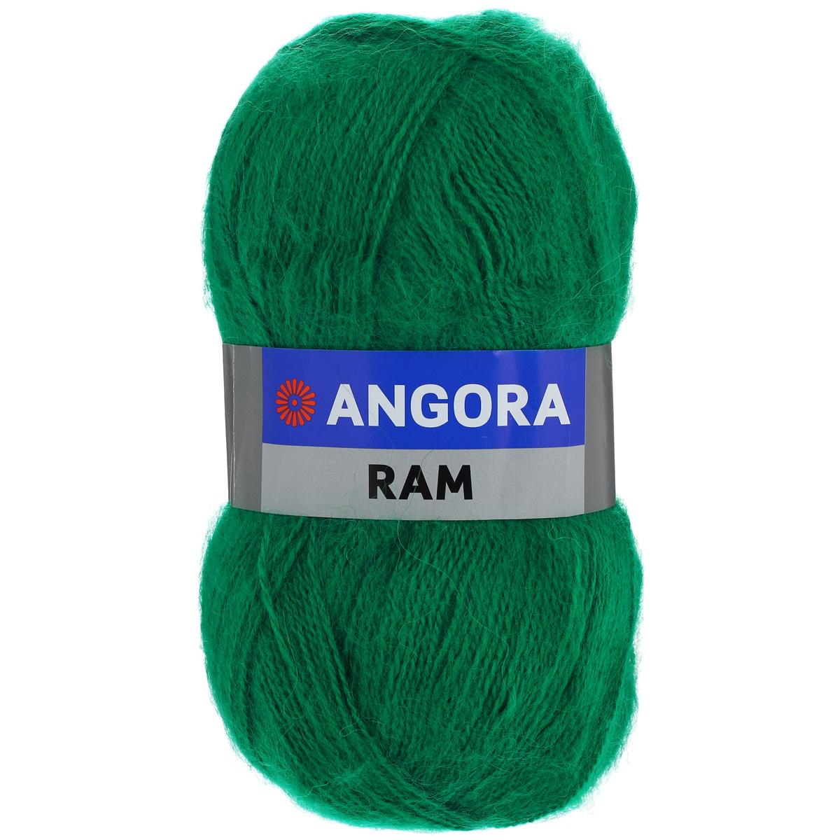 Пряжа для вязания YarnArt Angora Ram, цвет: зеленый (338), 500 м, 100 г, 5 шт372037_338Пряжа для вязания YarnArt Angora Ram изготовлена из натурального мохера с добавлением акрила. Пряжа из такого материала обладает повышенной прочностью и эластичностью, а изделия получаются теплые и уютные. Скрутка нити плотная, равномерная, не расслаивается, не путается, хорошо скользит по спицам, вяжется очень легко. Петли выглядят аккуратно, а натуральный мохер обеспечивает теплоту, легкость и превосходный внешний вид. Нить можно комбинировать с полушерстяными пряжами для смягчения рисунка, придания благородной пушистости фактуре нити, а также для улучшения тепловых характеристик. Благодаря содержанию синтетических волокон, изделия из YarnArt Angora Ram устойчивы к скатыванию, а благодаря своей мягкости такая пряжа подходит для детских вещей. Ажурные вещи сохраняют тепло не хуже плотного вязания, оставаясь легкими и объемными. Рекомендуемый размер спиц: №4. Примерный расход пряжи на джемпер: S - 400 г, M - 500 г, L - 600 г. Состав: 40%...