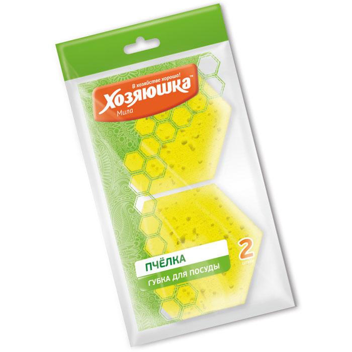 Набор губок Хозяюшка Мила Пчелка для тефлоновой посуды, в вакуумной упаковке, 2 шт01020