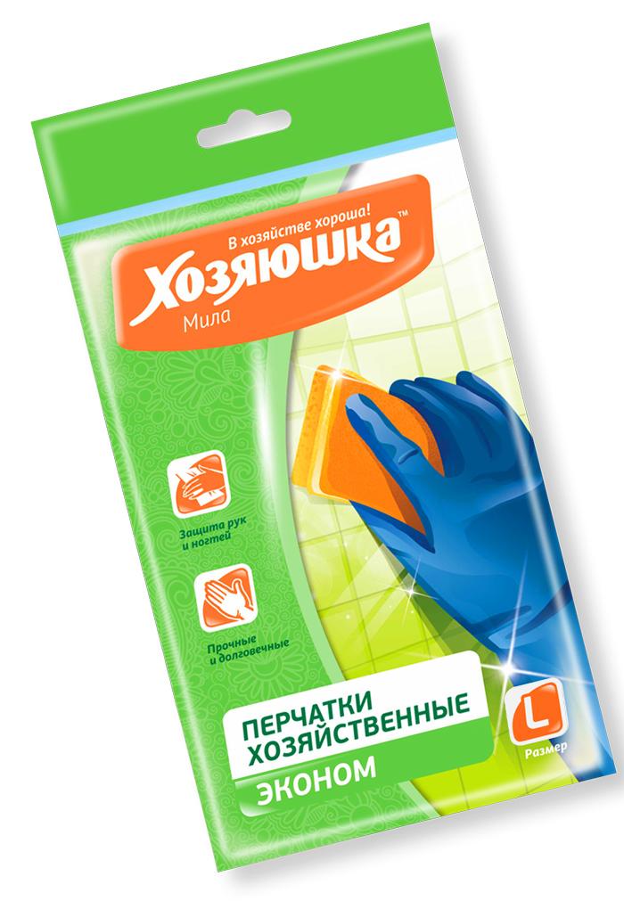 Перчатки хозяйственные Хозяюшка Мила Эконом, латексные. Размер L17020Перчатки из прочного латекса предназначены для всех видов хозяйственных работ: садовых и малярных работ, мытья посуды, чистки овощей. Прочные и долговечные.