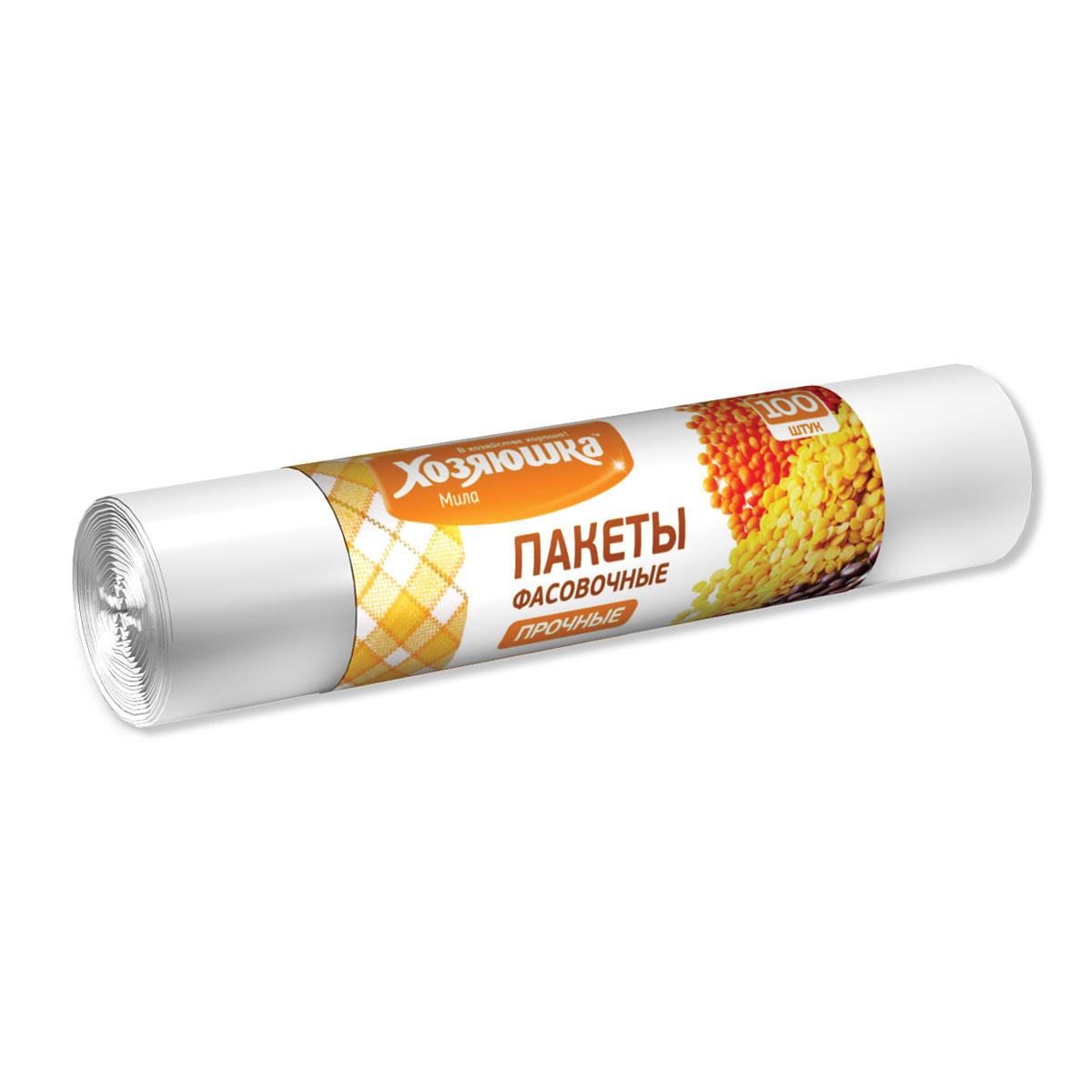 Фасовочные пакеты Хозяюшка Мила, 25 см х 36 см, 100 шт09012Фасовочные пакеты Хозяюшка Мила являются предметами первой необходимости, помогают разложить нужные вам вещи так, чтобы было удобно. Фасовочные пакеты - это самый распространенный, удобный и практичный вид современной упаковки, предназначенный для хранения и транспортировки практически всех видов пищевых и непродовольственных товаров.