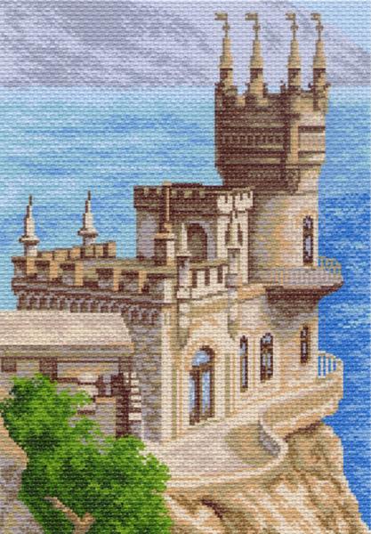 Канва с рисунком для вышивания Великолепный замок, 37 см х 49 см. 426596_830551074Канва с рисунком для вышивания Великолепный замок изготовлена из хлопка. Вышивка выполняется в технике полный крестик в 2-3 нити или полукрестом в 4 нити. Создайте свой личный шедевр - красивую вышитую картину. Работа, выполненная своими руками, станет отличным подарком для друзей и близких! УВАЖАЕМЫЕ КЛИЕНТЫ! Обращаем ваше внимание, на тот факт, что цвет символа на ткани может отличаться от реального цвета нити мулине. Рекомендуемое количество цветов: 18.