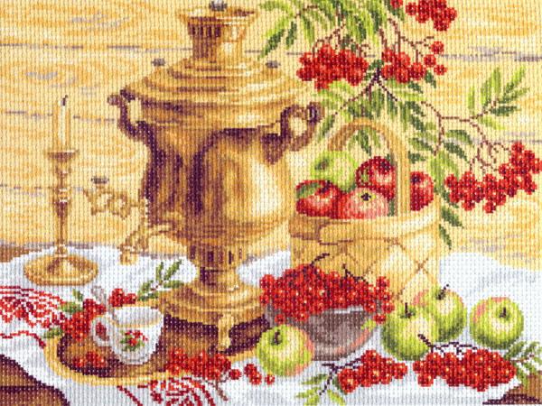 Канва с рисунком для вышивания Вкусный стол, 37 х 49 см 426596_817551065Канва с рисунком для вышивания Вкусный стол изготовлена из хлопка. Вышивка выполняется в технике полный крестик в 2-3 нити или полукрестом в 4 нити. Создайте свой личный шедевр - красивую вышитую картину. Работа, выполненная своими руками, станет отличным подарком для друзей и близких! УВАЖАЕМЫЕ КЛИЕНТЫ! Обращаем ваше внимание, на тот факт, что цвет символа на ткани может отличаться от реального цвета нити мулине. Рекомендуемое количество цветов: 19.