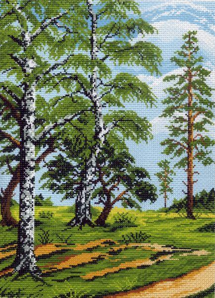 Канва с рисунком для вышивания Летний лес, 37 см х 49 см. 426596_590551022Канва с рисунком для вышивания Летний лес изготовлена из хлопка. Вышивка выполняется в технике полный крестик в 2-3 нити или полукрестом в 4 нити. Создайте свой личный шедевр - красивую вышитую картину. Работа, выполненная своими руками, станет отличным подарком для друзей и близких! УВАЖАЕМЫЕ КЛИЕНТЫ! Обращаем ваше внимание, на тот факт, что цвет символа на ткани может отличаться от реального цвета нити мулине. Рекомендуемое количество цветов: 18.