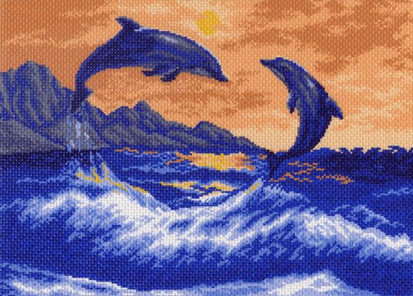 Канва с рисунком для вышивания Дельфины, 37 х 49 см 426596_522551007Канва с рисунком для вышивания Дельфины изготовлена из хлопка. Вышивка выполняется в технике полный крестик в 2-3 нити или полукрестом в 4 нити. Создайте свой личный шедевр - красивую вышитую картину. Работа, выполненная своими руками, станет отличным подарком для друзей и близких! УВАЖАЕМЫЕ КЛИЕНТЫ! Обращаем ваше внимание, на тот факт, что цвет символа на ткани может отличаться от реального цвета нити мулине. Рекомендуемое количество цветов: 12.