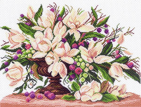 Канва с рисунком для вышивания Нежный букет цветов, 37 х 49 см 426596_1152549866Канва с рисунком для вышивания Нежный букет цветов изготовлена из хлопка. Вышивка выполняется в технике полный крестик в 2-3 нити или полукрестом в 4 нити. Создайте свой личный шедевр - красивую вышитую картину. Работа, выполненная своими руками, станет отличным подарком для друзей и близких! УВАЖАЕМЫЕ КЛИЕНТЫ! Обращаем ваше внимание, на тот факт, что цвет символа на ткани может отличаться от реального цвета нити мулине. Мулине в комплект не входят. Рекомендуемое количество цветов: 20.