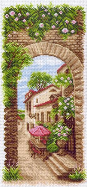 Канва с рисунком для вышивания Летнее кафе, 24 х 47 см 426787_1476549828Канва с рисунком для вышивания Летнее кафе изготовлена из хлопка. Вышивка выполняется в технике полный крестик в 2-3 нити или полукрестом в 4 нити. Создайте свой личный шедевр - красивую вышитую картину. Работа, выполненная своими руками, станет отличным подарком для друзей и близких!