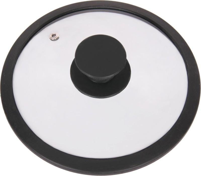Крышка стеклянная Winner, цвет: черный. Диаметр 20 смWR-8302_чернКрышка Winner изготовлена из термостойкого стекла с ободом из силикона. Крышка оснащена отверстием для выпуска пара. Ручка, выполненная из термостойкого бакелита с силиконовым покрытием, защищает ваши руки от высоких температур. Крышка удобна в использовании и позволяет контролировать процесс приготовления пищи. Характеристики: Материал: стекло, силикон, бакелит. Диаметр: 20 см. Изготовитель: Германия. Производитель: Китай. Размер упаковки: 21 см х 21 см х 4 см. Артикул: WR-8302.