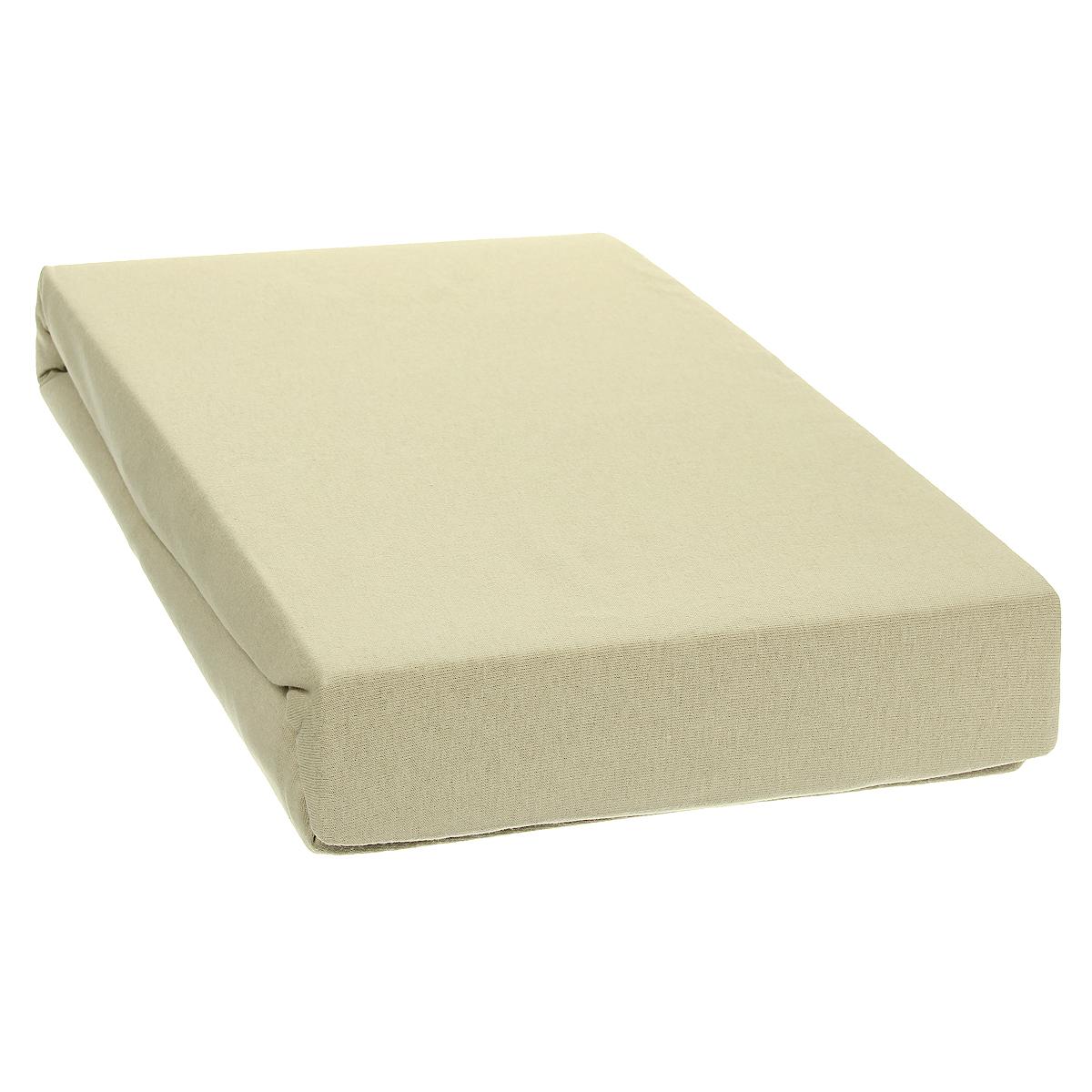 Простыня на резинке Tete-a-Tete, цвет: латунь, 180 см х 200 смТ-ПР-3058Однотонная простыня на резинке Tete-a-Tete выполнена из натурального хлопка. Высочайшее качество материала гарантирует безопасность не только взрослых, но и самых маленьких членов семьи. Простыня гармонично впишется в интерьер вашего дома и создаст атмосферу уюта и комфорта. Особенности коллекции Tete-a-Tete: - выдерживает более 100 стирок практически без изменения внешнего вида, - модные цвета и стойкие оттенки, - минимальная усадка, - надежные резинки и износостойкая ткань, - безупречное качество, - гиппоаллергенно. Коллекция Tete-a-Tete специально создана для практичных людей, которые ценят качество и долговечность вещей, окружают своих близких теплотой и заботой. Высота до 25 см.