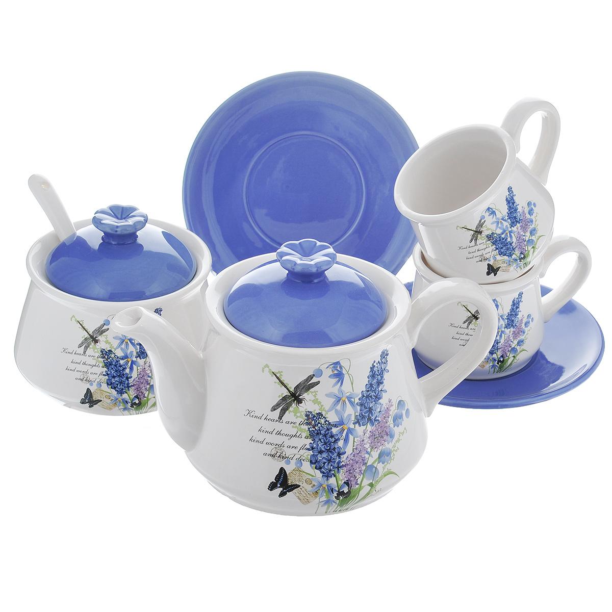 Набор чайный Полевые цветы, 7 предметовDFC01550/553/549-02252 7/SНабор чайный Полевые цветы состоит из двух чашек, двух блюдец, заварочного чайника, сахарницы и ложечки. Набор выполнен из доломитовой керамики и декорирован изображением цветов. Оригинальный дизайн, эстетичность и функциональность набора позволят ему стать достойным дополнением к кухонному инвентарю. Можно мыть в посудомоечной машине на минимальной температуре.