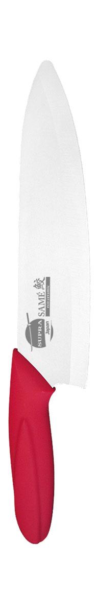 Нож универсальный Supra Same, керамический, цвет: красный, длина лезвия 18 см