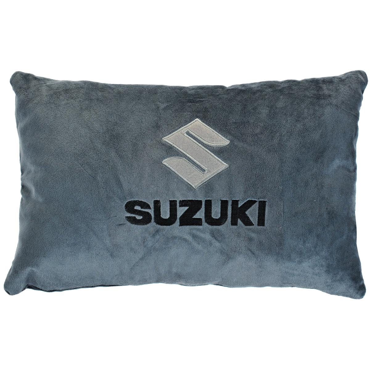 Подушка автомобильная Suzuki, цвет: серый, 41 см х 25 см х 14 смPS-SUT121145G