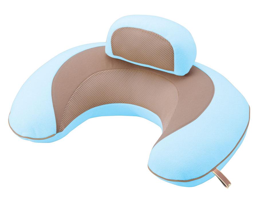 Подушка поддерживающая для детей, беременных и кормящих мам 3way Cushion MacaronBB708Подушка поддерживающая для детей, беременных и кормящих мам 3way Cushion Macaron голубая
