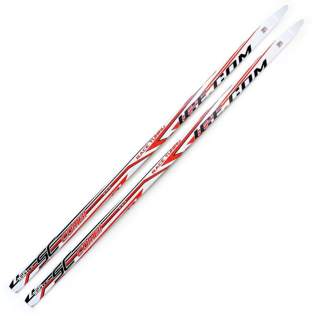 Беговые лыжи Ice.com Combi 2015 , цвет: красный, рост 150 см