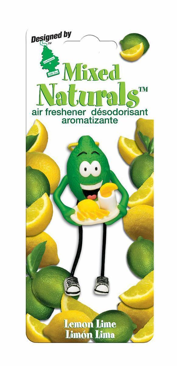 Ароматизатор Car-Freshner Mixed Naturals Лимон с лаймомCTK-51803-24Оригинальный ароматизатор Car-Freshner Mixed Naturals, выполненный в виде забавной фигурки, эффективно нейтрализует посторонние запахи и наполняет воздух яркими насыщенными ароматами. Подвесьте ароматизатор за шнурок в любом удобном месте - в салоне автомобиля, дома или в офисе - и получайте удовольствие! Характеристики: Размер ароматизатора: 8 см x 4 см x 4 см Изготовитель: Китай Артикул: CTK-51802