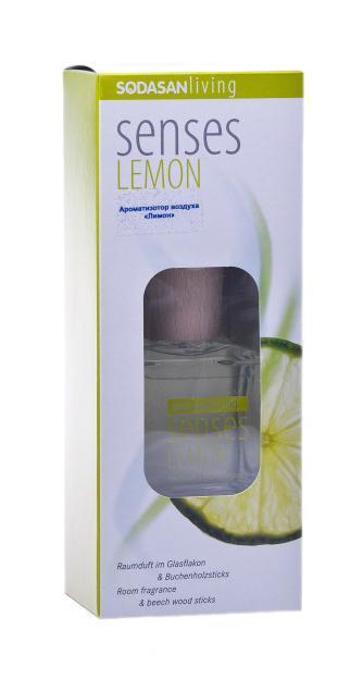 Ароматизотор воздуха Sodasan Лимон, 200 мл20001Представляет чувственное вдохновение от природы в стильной и элегантной стеклянной бутылке. Натуральный, ненавязчивый аромат «Лимон» благотворно влияет на микроклимат в помещении, и индивидуально вызывает приятные воспоминания. Классический аромат лимона оживляет и освежает чувства, увлекает в свежесть лимонных плантаций Средиземноморья. Пробка и палочки изготовлены из сертифицированной древесины бука. Способ применения: Выньте пробку и вставьте деревянные палочки в бутылку. Чем больше деревянных палочек Вы используете, тем интенсивней аромат в комнате. Желательно периодически поворачивать палочки в бутылке, чтобы усилить и продлить аромат в комнате. Характеристики: Аромат: лимон. Материал: пластик, стекло, дерево, металл. Объем флакона: 200 мл. Размер ароматизатора: 6,5 см х 6,5 см х 11 см. Размер упаковки: 9,5 см х 7 см х 24,5 см.