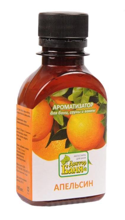 Ароматизатор для бани и сауны Доктор баня Апельсин, 100 мл - Доктор баня8849Ароматизатор для бани и сауны Апельсин изготовлен на основе натурального эфирного масла. Ароматизирующее средство Апельсин создает оранжевое настроение радости и оптимизма. Масло облегчает последствия стресса и помогает при бессоннице, освежает, улучшает работоспособность. Ароматизатор Апельсин сделает пребывание в бане или сауне не только приятнее, но и полезнее! Способ применения: Для бани и сауны, перед употреблением взболтать, добавить 15-20 мл на ковш воды, полить стены, полки в бане, сауне или поддать на камни; добавить в ванну.