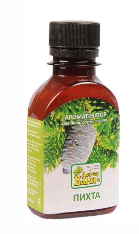 Ароматизатор для бани и сауны Доктор баня Пихта, 100 мл9014Ароматизатор для бани и сауны Пихта изготовлен на основе натурального эфирного масла. Эфирное масло пихты стимулирует кровообращение, тонизирует мышечную ткань, благотворное влияет на центральную нервную систему. Также обладает ярко выраженной бактерицидной, противовирусной активностью. Ароматизатор Пихта сделает пребывание в бане или сауне не только приятнее, но и полезнее! Способ применения: Для бани и сауны, перед употреблением взболтать, добавить 15-20 мл на ковш воды, полить стены, полки в бане, сауне или поддать на камни; добавить в ванну.