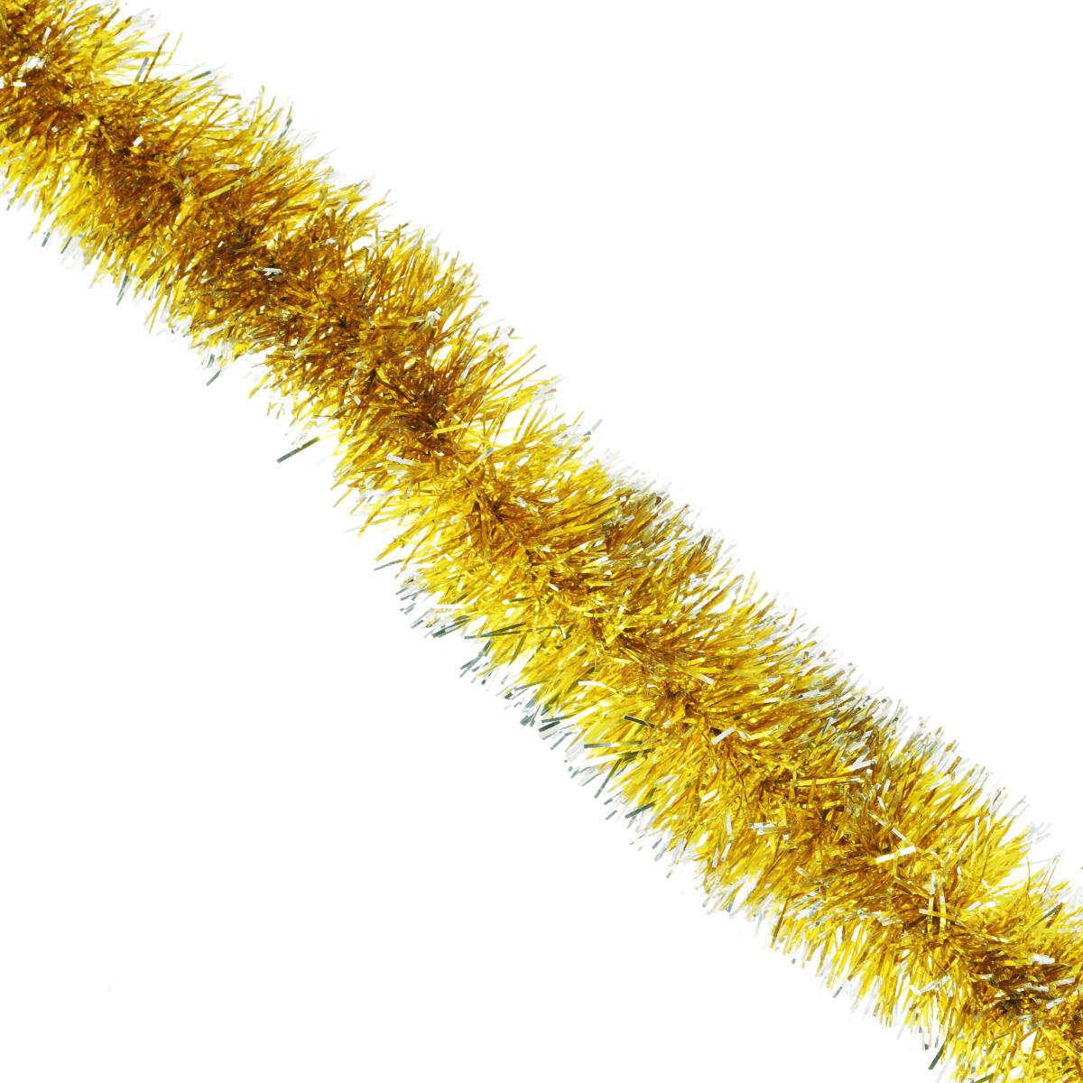 Мишура новогодняя Sima-land, цвет: золотистый, диаметр 5 см, длина 1,7 м. 427134427134Новогодняя мишура Sima-land, как будто покрытая инеем, поможет вам украсить свой дом к предстоящим праздникам. А новогодняя елка с таким украшением станет еще наряднее. Мишура армирована, то есть имеет проволоку внутри и способна сохранять приданную ей форму. Новогодней мишурой можно украсить все, что угодно - елку, квартиру, дачу, офис - как внутри, так и снаружи. Можно сложить новогодние поздравления, буквы и цифры, мишурой можно украсить и дополнить гирлянды, можно выделить дверные колонны, оплести дверные проемы.