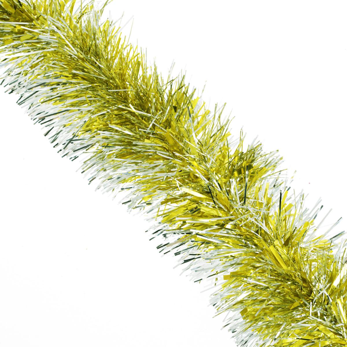 Мишура новогодняя Sima-land, цвет: золотистый, серебристый, диаметр 9 см, длина 165 см. 623233623233Мишура новогодняя Sima-land, выполненная из фольги, поможет вам украсить свой дом к предстоящим праздникам. Мишура армирована, то есть имеет проволоку внутри и способна сохранять приданную ей форму. Новогодняя елка с таким украшением станет еще наряднее. Новогодней мишурой можно украсить все, что угодно - елку, квартиру, дачу, офис - как внутри, так и снаружи. Можно сложить новогодние поздравления, буквы и цифры, мишурой можно украсить и дополнить гирлянды, можно выделить дверные колонны, оплести дверные проемы.