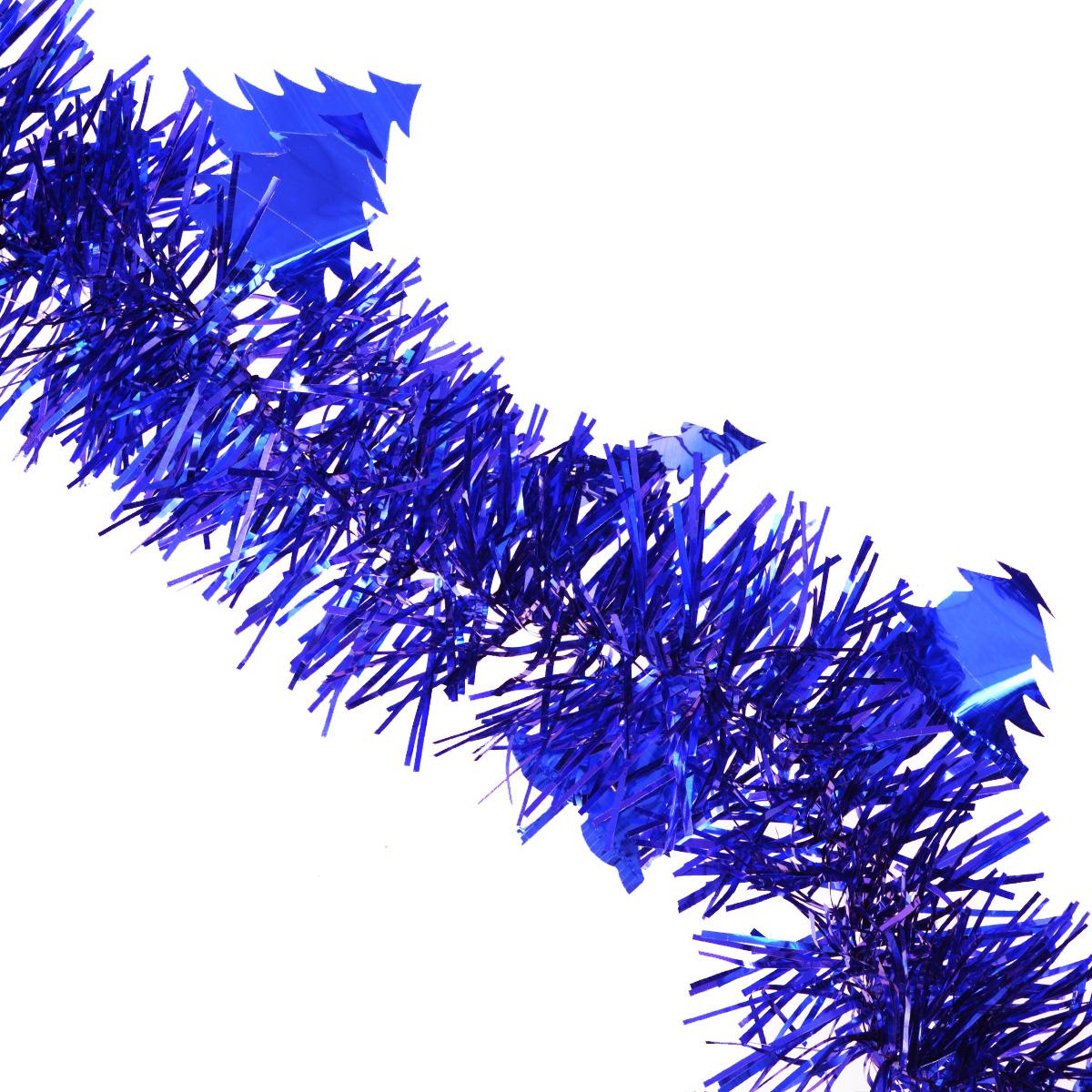 Мишура новогодняя Sima-land, цвет: синий, диаметр 8 см, длина 2 м. 702595702595Мишура новогодняя Sima-land, выполненная из фольги, поможет вам украсить свой дом к предстоящим праздникам. Мишура декорирована елочками и армирована, то есть имеет проволоку внутри и способна сохранять приданную ей форму. Новогодняя елка с таким украшением станет еще наряднее. Новогодней мишурой можно украсить все, что угодно - елку, квартиру, дачу, офис - как внутри, так и снаружи. Можно сложить новогодние поздравления, буквы и цифры, мишурой можно украсить и дополнить гирлянды, можно выделить дверные колонны, оплести дверные проемы. Коллекция декоративных украшений из серии Зимнее волшебство принесет в ваш дом ни с чем несравнимое ощущение праздника! Создайте в своем доме атмосферу тепла, веселья и радости, украшая его всей семьей.