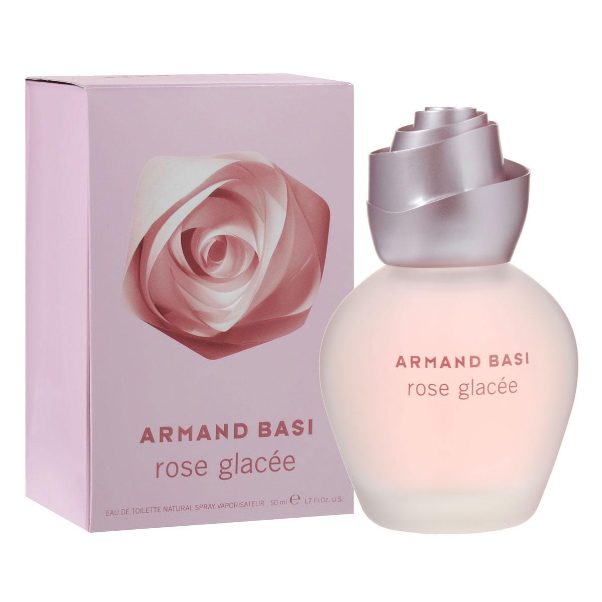 """Armand Basi Туалетная вода Rose Glacee, женская, 50 мл47100Органичная и геометричная, роза является сердцем и вдохновением нового аромата от Armand Basi, который открывает перед нами мир сущности цветка. Его концепция усовершенствована и обновлена выведением на игровое поле главного игрока - геометрии. Роза - это символ совершенства. Универсальный цветок, признанный во всем мире воплощением тайны женщины. Это самый безупречный цветок. Ее красота радует глаз; ее аромат роскошный, превосходный, пьянящий, нежно-бархатный и хрупкий. И в то же время он обманывает, бунтует и отклоняется от всех мыслимых стандартов: шипы ранят руку каждого, кто осмелится срезать розу. Glacee - французское слово, которое обозначает """"замороженный"""". Роза, закованная в ледяные цепи. Хранимая холодом, продлевающим жизнь ее красоты, она стоит непокорно и гордо. Обольстительная и прекрасная. Rose Glacee, имя нового аромата, воплощающего напряжение во внешнем проявлении. Теплая и холодная, спокойная и агрессивная, дружелюбная, но предающая, прекрасная, но..."""